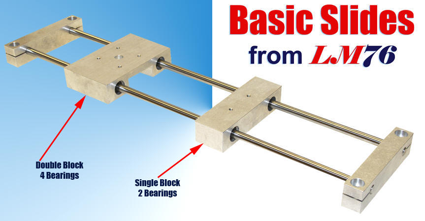 Basic Linear Slides from LM76 Linear Motion Bearings